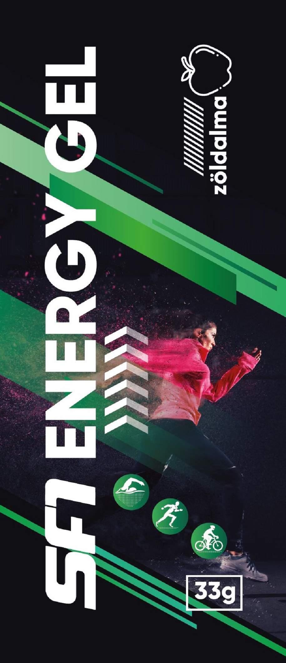 Fairbion energiagél koffeinmentes zöldalma ízű